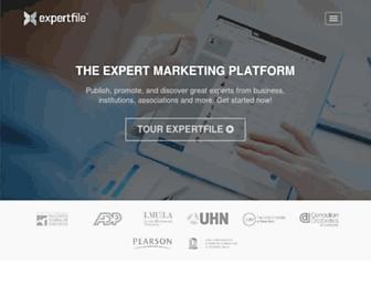expertfile.com screenshot