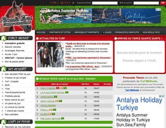 pronostic-tierce.com screenshot