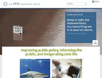 Main page screenshot of pewtrusts.org