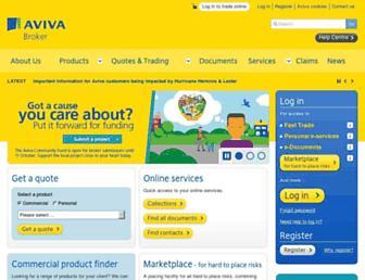 broker.aviva.co.uk screenshot