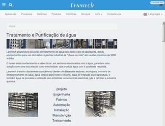 Main page screenshot of lenntech.com.pt