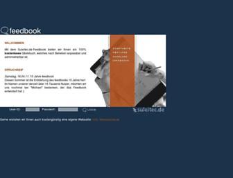 Main page screenshot of feedbook.de