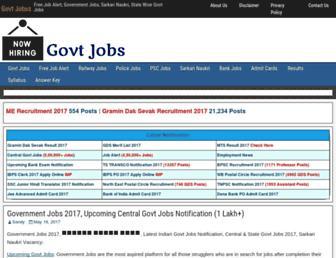govtjobss.co.in screenshot