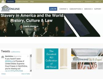 home.heinonline.org screenshot