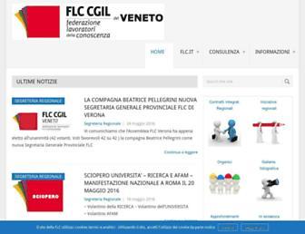 Main page screenshot of flccgil.veneto.it