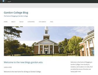 blogs.gordon.edu screenshot