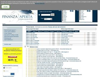 Main page screenshot of finanza-aperta.it