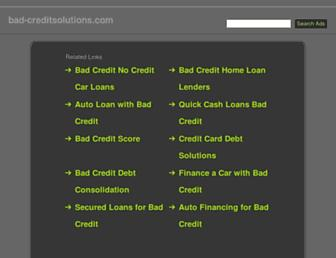 Thumbshot of Bad-creditsolutions.com