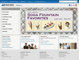 about.usps.com screenshot