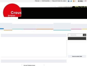 Thumbshot of Crous-bordeaux.fr