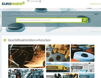 Main page screenshot of europages.de