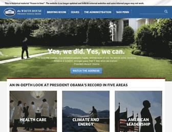 obamawhitehouse.archives.gov screenshot