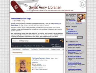 Main page screenshot of swissarmylibrarian.net