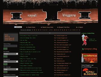 Main page screenshot of bloggers.com.np