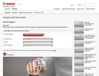 support-th.canon-asia.com screenshot