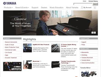 usa.yamaha.com screenshot
