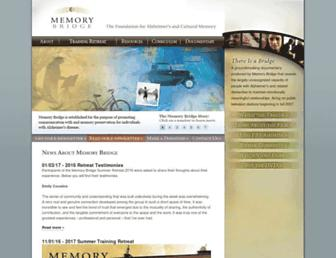 Main page screenshot of memorybridge.org