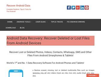 recoverandroid-data.com screenshot