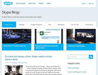 blogs.skype.com screenshot