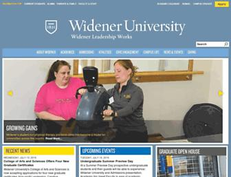 Thumbshot of Widener.edu