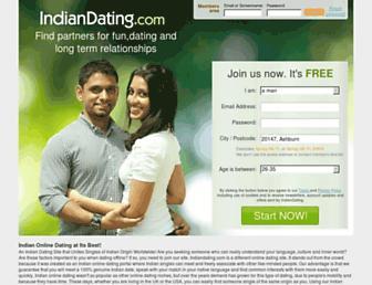 indiandating.com screenshot