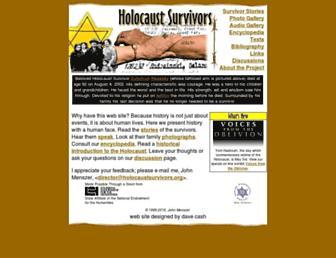 Main page screenshot of holocaustsurvivors.org