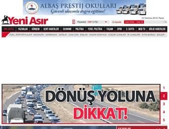 Main page screenshot of yeniasir.com.tr