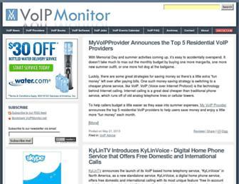 Main page screenshot of voipmonitor.net