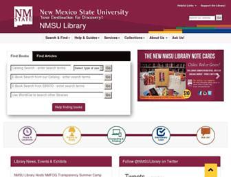 lib.nmsu.edu screenshot