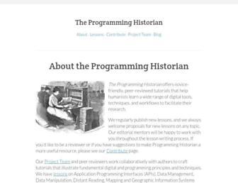 programminghistorian.org screenshot