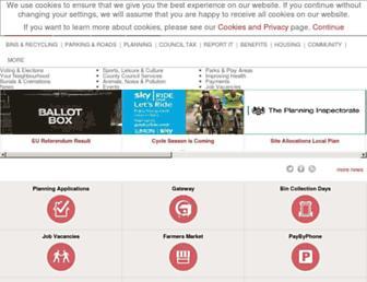 Main page screenshot of tunbridgewells.gov.uk