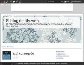Main page screenshot of tusrecuerdos-fashion.lily.over-blog.es