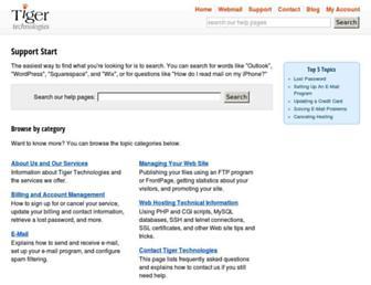 support.tigertech.net screenshot