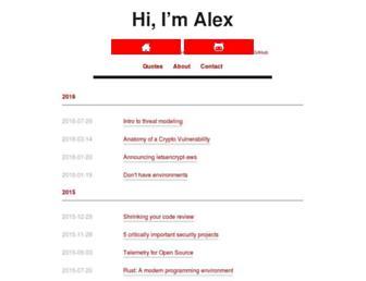alexgaynor.net screenshot