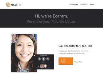 ecamm.com screenshot