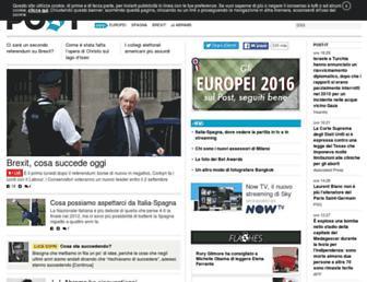 Main page screenshot of ilpost.it