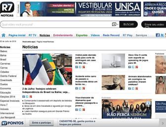 noticias.r7.com screenshot