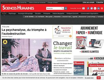 scienceshumaines.com screenshot
