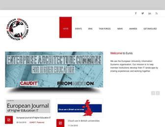 eunis.org screenshot