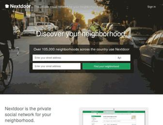 Thumbshot of Nextdoor.com