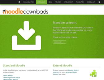 download.moodle.org screenshot