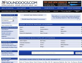 sounddogs.com screenshot