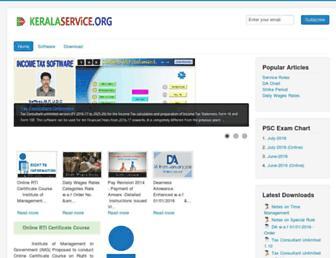 keralaservice.org screenshot