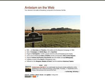 Main page screenshot of aotw.org