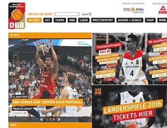 Main page screenshot of basketball-bund.de