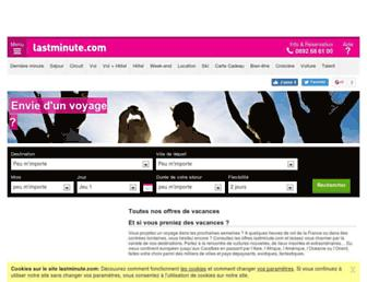 sejour.lastminute.com screenshot