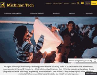 Main page screenshot of mtu.edu