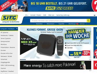 Main page screenshot of stegcomputer.ch
