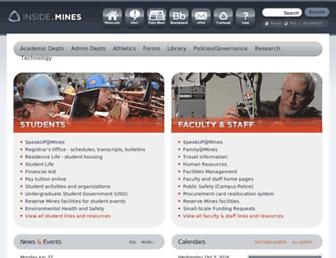 inside.mines.edu screenshot