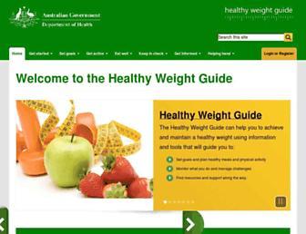 healthyweight.health.gov.au screenshot